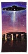 Stonehenge Ufo Bath Towel