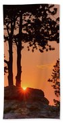Stop Right Here - Rocky Mountain Np - Sunrise Bath Towel