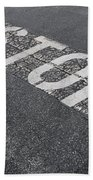Stop Sign Bath Towel