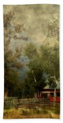 Storm Approaching White Birch Cottage Bath Towel