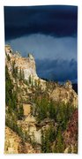 Storm Brewing Over Yellowstone Bath Towel