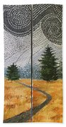 Storm Clouds Over Cheney,kansas Hand Towel