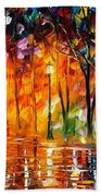 Storm Of Emotions - Palette Knife Oil Painting On Canvas By Leonid Afremov Bath Towel