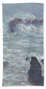 Storm Off The Coast Of Belle Ile Hand Towel