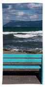 Stormy Aegean Sea Bath Towel
