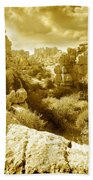 Strange Rock Formations At El Torcal Near Antequera Spain Hand Towel