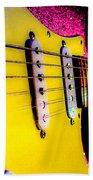 Stratocaster Pop Art Pink Fire Neck Series Bath Towel