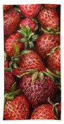 Strawberries -2 Contemporary Oil Painting Bath Towel