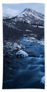Mountain Stream In Twilight Bath Towel