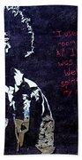 Street Art - Jimmy Hendrix Bath Towel