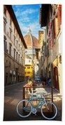 Street In Florence Bath Towel