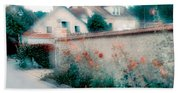 Street In Giverny, France Bath Towel