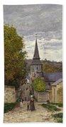 Street In Sainte Adresse Hand Towel