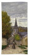Street In Sainte Adresse Bath Towel