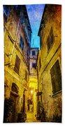 Street In Vernazza - Vintage Version Bath Towel