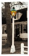 Street Lamp Bath Towel by Patti Whitten