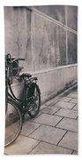 Street Photo Bicycle Bath Towel