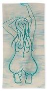 Stretching Lady Bath Towel