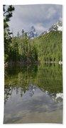 String Lake Teton Reflection Bath Towel
