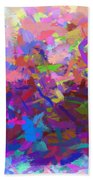 Strips Of Pretty Colors Abstract Bath Towel