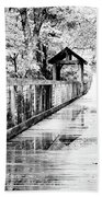 Stroll Through The Woods Bath Sheet by Valeria Donaldson