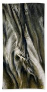 Study In Brown Abstract Sands Bath Towel by Rikk Flohr