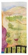 Study Of A Wine Ad Bath Towel