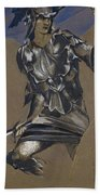 Study Of Perseus In Armour For The Finding Of Medusa Bath Towel