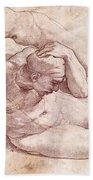 Study Of Three Male Figures Bath Towel
