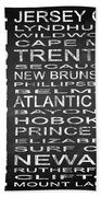 Subway New Jersey State Square Bath Towel