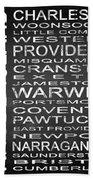 Subway Rhode Island State Square Bath Towel