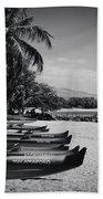 Sugar Beach Hawaiian Outrigger Canoes Kihei Maui Hawaii  Bath Towel