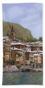 Sul Lago Di Como Bath Towel by Guido Borelli