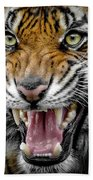 Sumatran Tiger Snarl Bath Towel