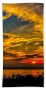 Summer Sunset Over The Delaware River Bath Towel