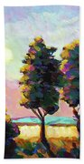 Summer Afternoon In The Fields Bath Towel