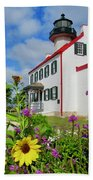 Summer At East Point Light Bath Towel