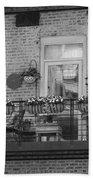Summer Balcony In B W Bath Towel