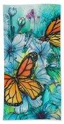 Summer Butterflies Bath Towel