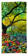 Summer Ends And Autumn Begins Bath Towel