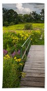 Summer Field Of Wildflowers Bath Towel
