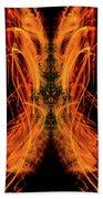 10658 Summer Fire Mask 58 - Dance Of The Fire Queen Bath Towel