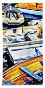 Summer Fishing Boats Bath Towel