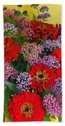 Summer Flower Bouquet Bath Towel