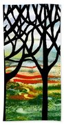 Summer Forest Abstract  Bath Towel