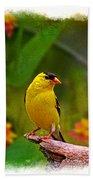 Summer Goldfinch Bath Towel