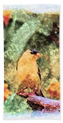 Summer Goldfinch - Digital Paint 5 Bath Towel