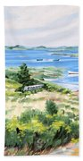 Summer In Lunenburg Harbour Bath Towel