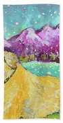 Summer In The Mountains With Summer Snow Bath Towel