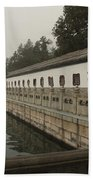 Summer Palace Pond With Ornate Balustrades Bath Towel